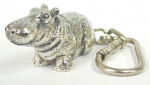 Sterling Silver Hippo Key Chain