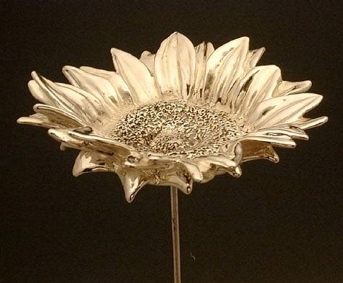 Beautiful Artisan Large Sterling Silver Sunflower Model