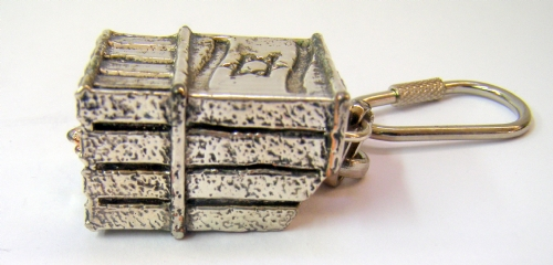 Silver Iron Dome Key Chain