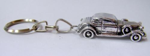 Silver Old Car Key chian