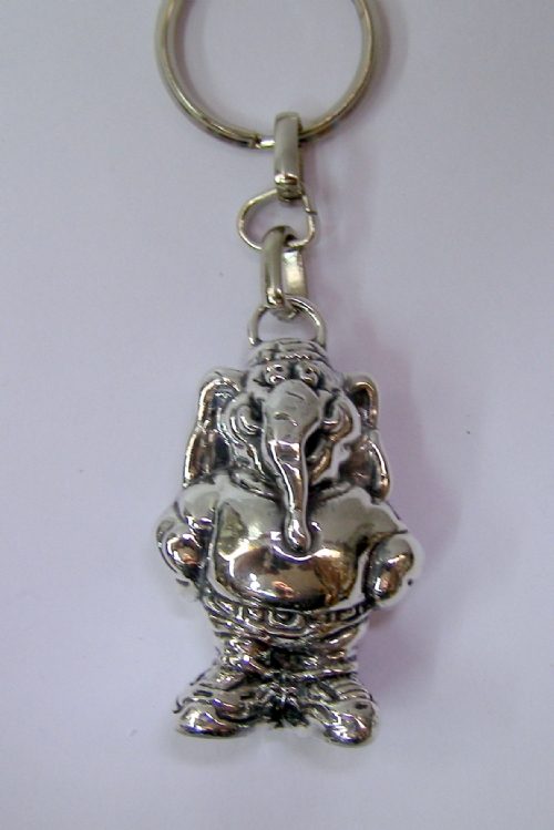 Silver Elephant Key Chain