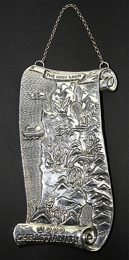 Silver Large Map Of Holy Land