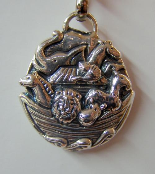 Sterling Silver Noah´s Ark Key Chain,