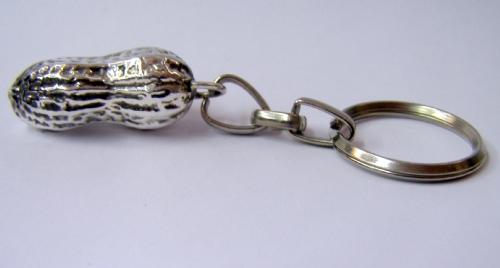Silver peanut  Key Chain