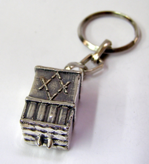"Silver ""Iron Dome"" Key Chain"