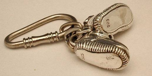 Sterling Silver Shoes Key Chain
