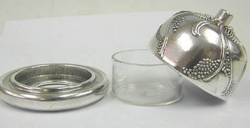 Sterling Silver Fancy Honey Dish