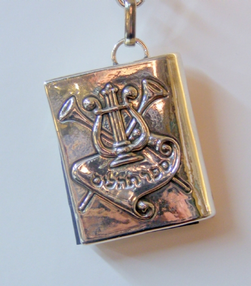 Sterling Silver Tehilim Psalms Key Chain