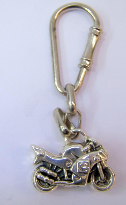 Silver  Motorcykle Key Chain