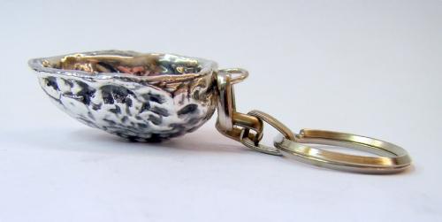 Sterling Silver Walnut Key Chain