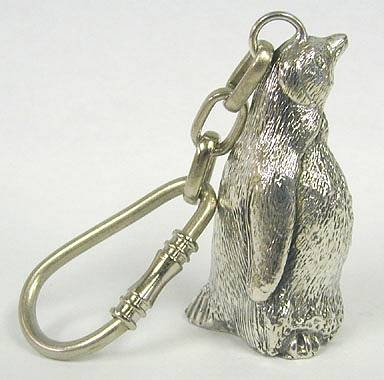Silver Pinguin Key Chain
